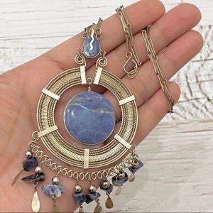 Jewelry - Vintage Native American Boho Dangle Necklace
